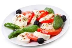 Salad with mozzarella Stock Photo
