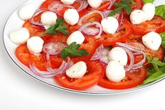 Salad with mozzarella  Stock Photos