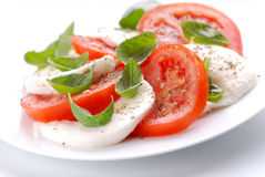 Salad with mozzarella  and tomato Stock Images