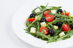 Salad with mozzarella Royalty Free Stock Photography