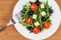 Salad with mozzarella Stock Images