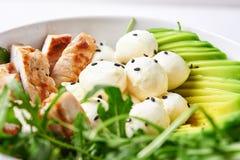 Salad with mozzarlla, avocado and turky Royalty Free Stock Image