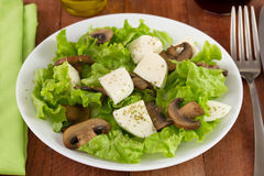 Salad mushrooms with cheese Royalty Free Stock Photos