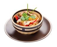 Salad with mushrooms and peanuts. Asian cuisine stock image