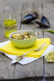 Salad of mussel Stock Photo