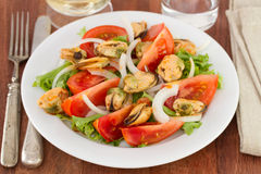 Salad with mussels Royalty Free Stock Image