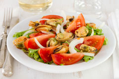 Salad with mussels Stock Image