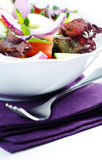 Salad on  napkin Royalty Free Stock Photos