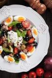Salad Nicoise with eggs and tuna Stock Photos