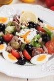 Salad Nicoise with eggs and tuna Stock Image