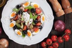 Salad Nicoise with eggs and tuna Stock Photography