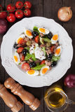 Salad Nicoise with eggs and tuna Royalty Free Stock Image