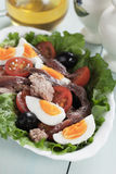 Salad Nicoise wuth eggs and tuna Stock Images