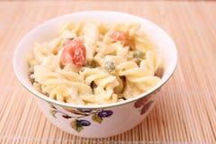 Salad of noodles stock image