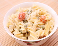 Salad of noodles royalty free stock images