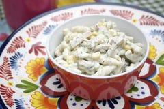 Salad of noodles Stock Images
