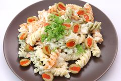 Salad of noodles Royalty Free Stock Image