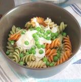 Salad of noodles Stock Photos