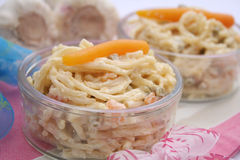 Salad of noodles Stock Images