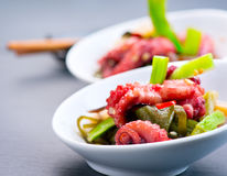 Salad with octopus and ginger Stock Images