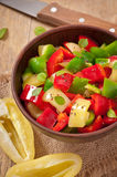 Salad Of Sweet Colorful Peppers Stock Photo