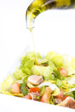 Salad oil. Closeup of salad and oil Stock Images