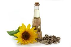 Salad Oil with Sunflower Royalty Free Stock Photo