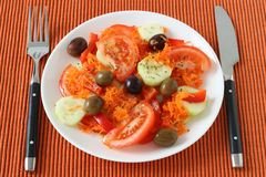 Salad with olives Royalty Free Stock Image