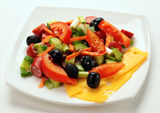 Salad with olives Royalty Free Stock Photo