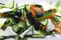 Salad with olives and cheese Royalty Free Stock Photography