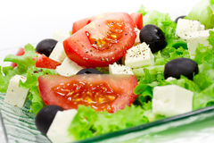 Salad with olives Stock Photography