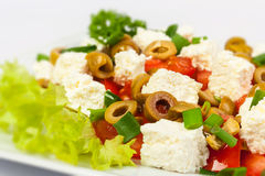 Salad with olives and feta Stock Photo