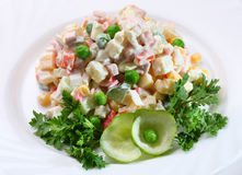 Salad by Olivie Royalty Free Stock Image