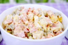 Salad Olivier Stock Photo