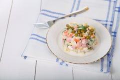 Salad Olivier Royalty Free Stock Photo