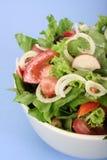Salad On Blue Stock Photo