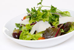 Salad On White Royalty Free Stock Images