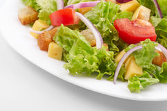 Salad On White Plate Royalty Free Stock Photos