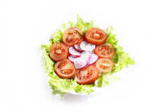 Salad op view Royalty Free Stock Photos