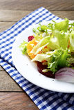 Salad with orange and beetroot. Food Stock Photo