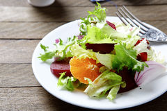Salad with orange and beetroot. Food Royalty Free Stock Images