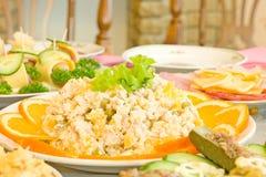 Salad with orange slices Stock Photo