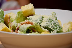 Salad of organic vegetables, delicious menu. Salad of organic vegetables, sprinkle with butter Royalty Free Stock Photos