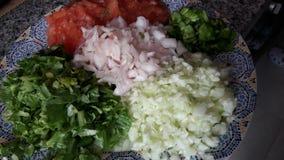 Salad. Original mixed salad tangier city good day Stock Images