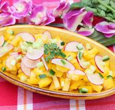 Salad of paprika and radish Stock Image