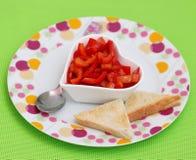 Salad of paprika Royalty Free Stock Image
