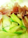 Salad of parma ham and asparagus Stock Photos