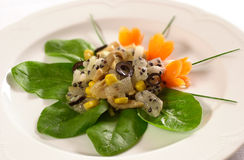 Salad with passion fruit Stock Image