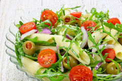 Salad with pasta Royalty Free Stock Images