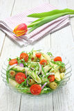 Salad with pasta Stock Photo